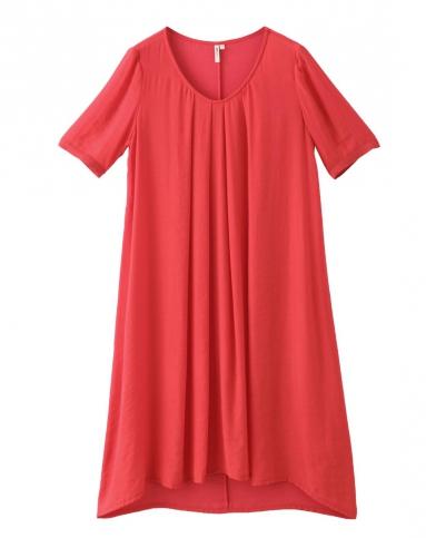 大红色连衣裙-唯品会