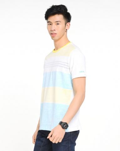 男子白/浅黄/浅蓝短袖t恤图片