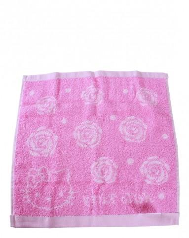 (两条装)kt玫瑰方巾-粉色