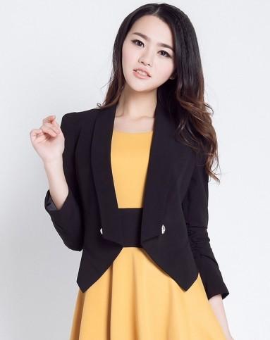 女黑礹/&�yi)��-z)�bi_艾夫斯黑色时尚女小西装