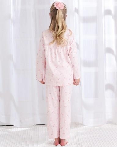 女童粉红纯棉家居睡衣套装-唯品会