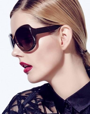 墨镜女圆脸偏光大框太阳镜图片
